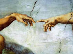 Michalangelo, La Creazione di Adamo - particolare