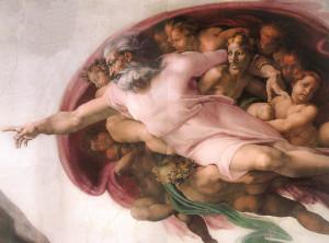 Michelangelo - La Creazione di Adamo (particolare)