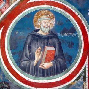 San Benedetto da Norcia, affresco di Subiaco