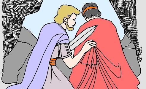 Saul perseguita Davide   (audio mp3)